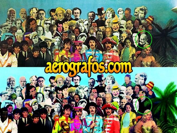 Historia de la aerografía - Retoque con aerógrafo del disco de los Beatles